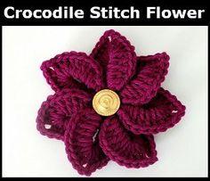 Two-Hour Crocodile Stitch Flower | AllFreeCrochet.com