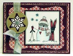 D2D Snowman Skier - Michelle Pearson - Inspiration Blooms for Designed2Delight