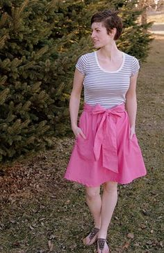 McIntosh dress DIY from a t shirt. I am loving all the t shirt dresses you can make!