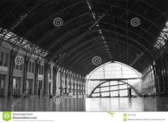Inside the building of the former railway station in Santiago, Chile mapocho