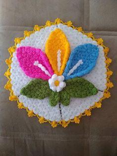 Crochet Doilies, Crochet Flowers, Crochet Stitches, Rainbow Crochet, Crochet Baby, Easy Knitting Patterns, Crochet Patterns, Yarn Crafts, Diy And Crafts
