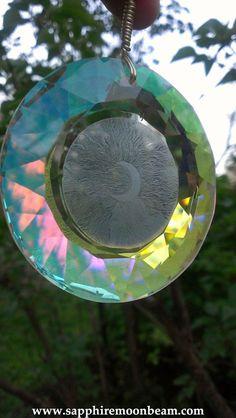 ☆ Mystic Wiccan Pagan Crystal Crescent Moon Sun Catcher :¦: Etsy Shop: SapphireMoonbeam ☆