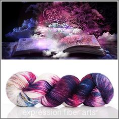 MAGIC OF BOOKS SUPERWASH MERINO SILK PEARLESCENT FINGERING yarn by expression fiber arts