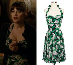 "Jess wore this super pretty floral print halterneck dress in last night's episode of New Girl ""Oregon"". Sadly it's from Trashy Diva's 2014 collection so it's no longer available but keep an eye on..."