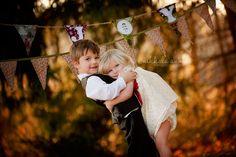 boy girl siblings brother sister photo session idea hug banner