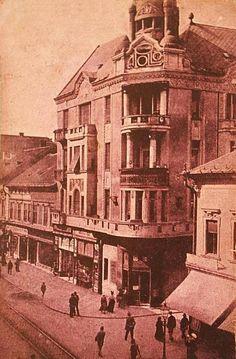 Arad, Strada General Berthelot ,Palatul Bohus anii 1920 Big Ben, Buildings, Country, Places, Painting, Pictures, Houses, Rural Area, Painting Art
