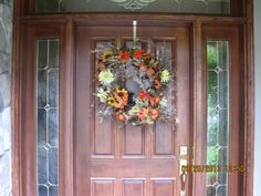 Love the way a wreath welcomes people! C.C. Fall '13