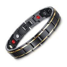 2016 nueva Novedad de la terapia de la energía magnética de acero inoxidable pulsera hombres mujeres brazalete de germanio salud joyas pulsera regalo de la salud(China (Mainland))