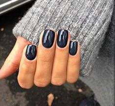 39 Trendy Fall Nails Art Designs Ideas To Look Autumnal & Charming - autumn nail art ideas fall nail art short nail art designs autumn nail colors dark nail designs coffin nails Navy Nails, Dark Gel Nails, Dark Color Nails, Navy Nail Polish, Black Nails, Dark Blue Nails, Gel Nail Polish Colors, Blue Gel, Polish Nails