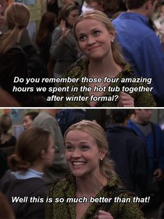 """And when she was just the right amount of smug when she landed a coveted internship. 