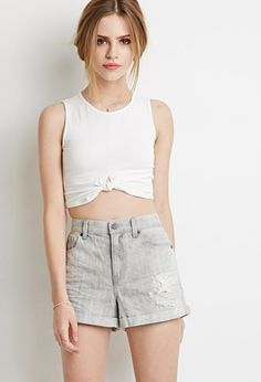 Distressed Denim Shorts | Forever 21 - 2000184410