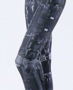 Circuit Board grey leggings from Black Milk Clothing e2b87356665f