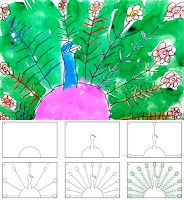 Art Projects for Kids: How to Draw a Peacock