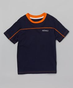 Blue Piped-Panel Tee - Toddler & Boys