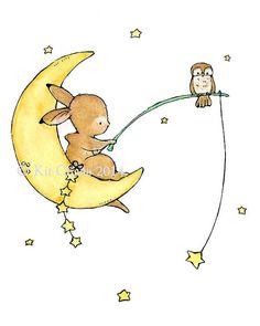 Baby ArtStarfishKunstdruck von trafalgarssquare auf Etsy