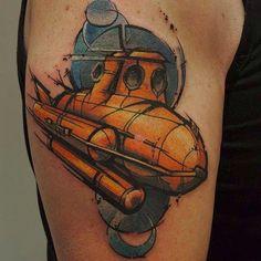 Submarine tattoo