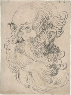 Hans Baldung Grien / Also attributed to Sebald Beham – Head of a Bearded Old Man, Black chalk Old Man Portrait, Portrait Art, Guy Drawing, Figure Drawing, Old Man With Beard, Hans Baldung Grien, Man Sketch, Anatomy Sketches, Classic Paintings