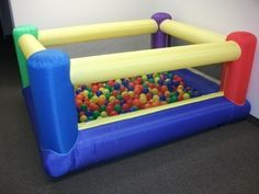 """My Bouncer Perfect Little Ball Pit – Perfect Size for Indoor Use – measured 84"""" L x 72"""" W…"""