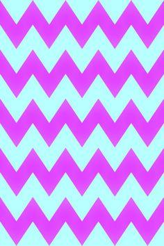 Pink and blue chevron wallpaper pattern
