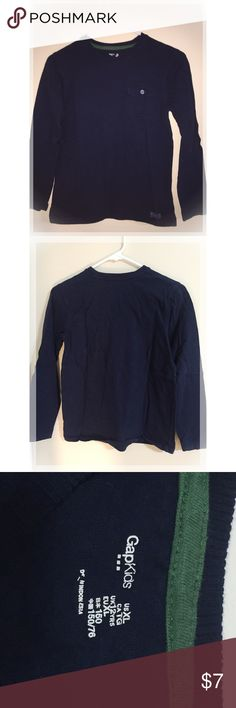 GAP Boy's Navy Long Sleeve cotton Shirt (size 12) Excellent condition! GAP Shirts & Tops Tees - Long Sleeve