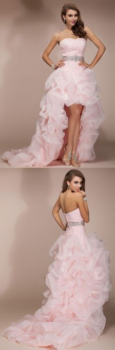 Short Prom Dresses, Long Prom Dresses, Pink Prom Dresses, High Low Prom Dresses, Prom Dresses Short, Prom Short Dresses, Prom Dresses Long, Prom Long Dresses, Short Pink Prom Dresses, High Low Dresses, Pink High Low Backless Beaded Short Front Long Back Prom Dresses