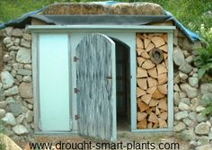 Earth Sheltered, Green Roofed, Cordwood Root Cellar