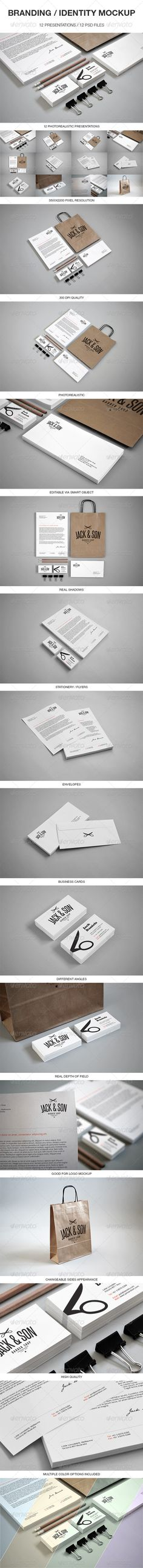 "Photorealistic, Clean and easy to use Branding / Identity Mockup. Present Your Work in a very elegant way. All you have to do is to ""Edit content"" and paste your design in smart objects."