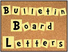 Free bulletin board alphabet and numbers set!  Cute, Cute, Cute...