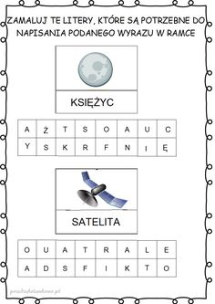 ufoludki21 Grade 1, Kids Learning, Hand Lettering, Activities For Kids, Crafty, Teaching, Education, School, Children