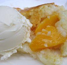 Blog Revival Week: Wednesday- Miss Jean's Peach Cobbler | Big Red Kitchen - a regular gathering of distinguished guests