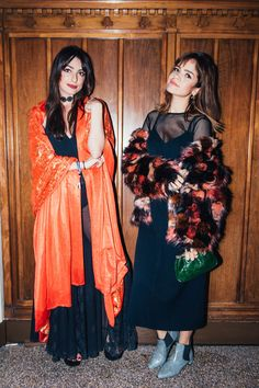 """24 Looks That Take """"Fancy"""" & Flip It On Its Head #refinery29  http://www.refinery29.com/2016/11/130843/afropunk-fancy-dress-ball-best-dressed#slide-10  Ilse Valfré, 29 and Gabi Neslon, 25How would you describe your look?""""Everyday black with a touch of color.""""..."""