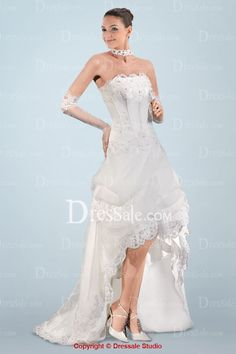 Captivating A-line Wedding Dress with Shimmering Beaded Appliques