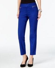 INC International Concepts Zip-Pocket Straight-Leg Pants, Only at Macy's