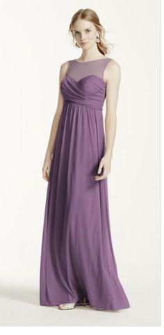 """David's Bridal Style: F15927 in Colour """"Wisteria"""""""