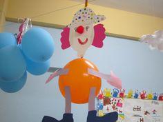 Balondan Palyaço - Okul öncesi sınıfları süslemenin çok güzel bir yolu.