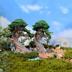 Old tree house mini garden ornament miniature #figurine craft #fairy #plant pot d,  View more on the LINK: http://www.zeppy.io/product/gb/2/391134601713/