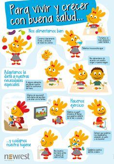 Poster de Madeleine. Para vivir y crecer con buena salud, diseñado por On Accent.  www.onaccent.com #design #illustration #cooking #kids