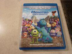 Disney Pixar Monsters University (BluRay ONLY, 2013, 1-Disc, NO Dvd) mint disc