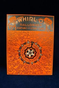 Printable Version at http://www.percyandbloom.com/the-vintage-moth/2010/10/3/free-vintage-whirl-o-halloween-game-and-images.html