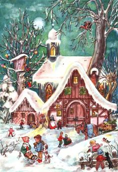 german christmas Vintage merry
