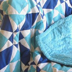 baby quil t- traditional 'storm at sea' quilt by Sheynale