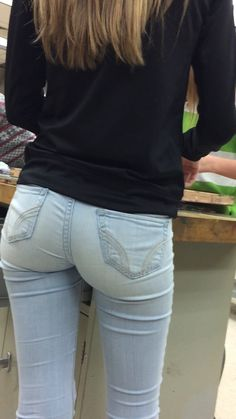 Sexy jeans boots tight tits ass