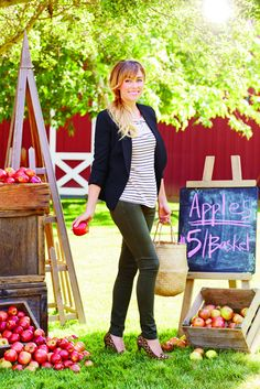 peek at the latest from lc lauren conrad at kohls!- army green and navy blazer