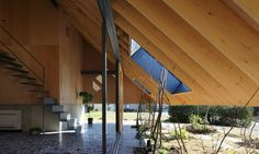 "Timber ""Eaves House"" in Japan boasts an oversized mono-pitched roof 