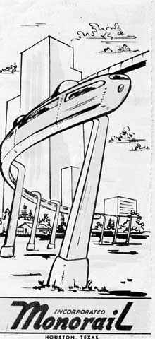 Monorail Incorporated of Houston, 1955.