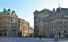 The 'three graces' from right Neville Hall, Literary & Philosophical Society, Bolbec Hall