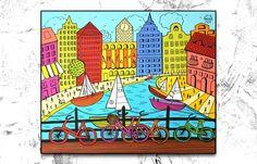 Folk City Amsterdam 60 x 50