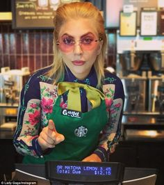 Barista! On Friday, Lady Gaga, 31, stepped behind the counter at an LA Starbucks in order to raise money for her charity, Born This Way