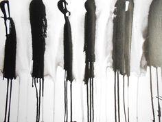 A3 OOAK Zen Black and White Ink Wash Painting by Manjuzaka on Etsy, €34.00