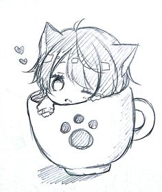 Cats and kittens chibi cute cat, cute cats breeds, cute cat anime, cute cat makeup for halloween, Dibujos Anime Chibi, Cute Anime Chibi, Anime Neko, Anime Kawaii, Kawaii Art, Anime Kiss, Kawaii Neko Girl, Kawaii Doodles, Anime Wolf